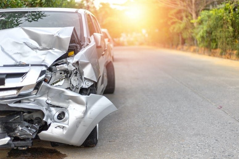 Crashed Car, Road, Street, Accident
