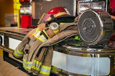 Firefighter, Protection Gear, Helmet, Jacket, Truck