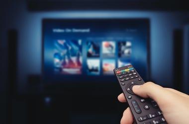 Television, TV, Remote, Hand