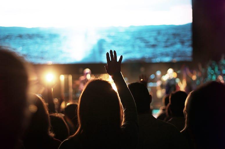 Church, Worship, Crowd, Band