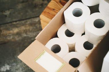 Toilet Paper, Cardboard Box