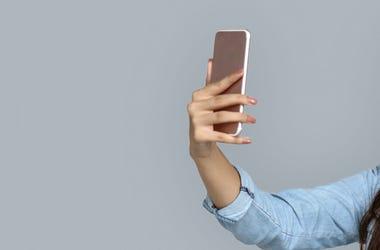 Woman, Recording, Phone, Smartphone, Video, Vertical