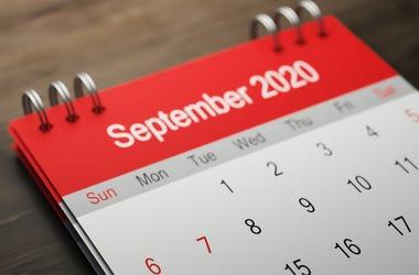 September, Calendar, Table