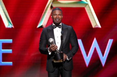 "Jamie Foxx accepts Outstanding Supporting Actor in a Motion Picture for ""Just Mercy"" onstage during the 51st NAACP Image Awards, Presented by BET, at Pasadena Civic Auditorium on February 22, 2020 in Pasadena, California."