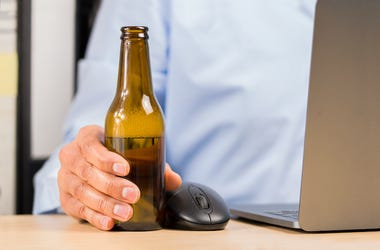 Man, Beer, Computer, Laptop, Mouse