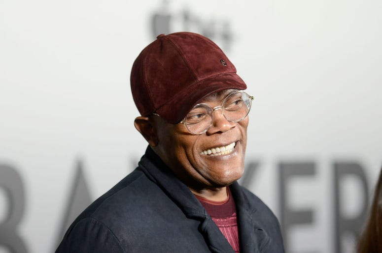 "Samuel L. Jackson at the world premiere of ""The Banker"" at the National Civil Rights Museum on March 02, 2020 in Memphis, Tennessee."