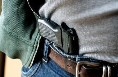 Handgun, Waistband, Pants, Belt
