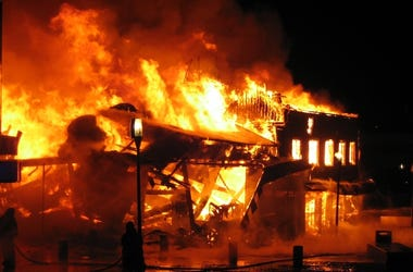 Fire, Building, Firefighters, Flames