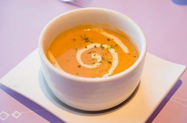 Orange bisque in a bowl