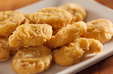 Chicken Nuggets, Plate, Crispy, Pile