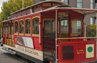 Cable Car, Trolley, Red, Street, San Francisco