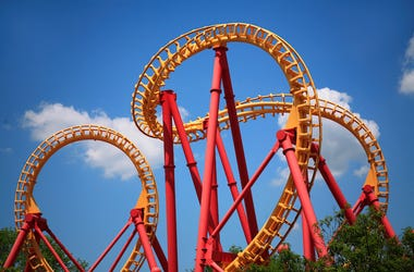 Looping Roller Coaster, Amusement Park, Theme Park