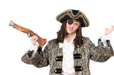 Pirate, Man, Costume, Eyepatch