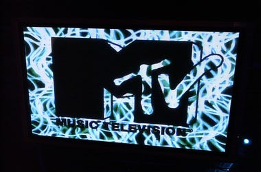 MTV logo is seen at the MTV/T3 party at Pierre Cardin's Villa during 56th International Cannes Film Festival 2003 on May 17, 2003 in Cannes, France.
