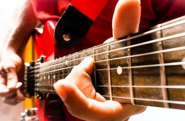 Musician, Guitar, Les Paul, Playing