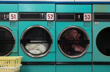 Laundromat, Dryers, Clothes