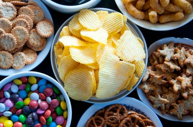 Junk Food, Snacks, Chips, Candy, Chocolate, Spread