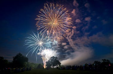 Fireworks, Fourth of July, Field, Trees, Independence Day