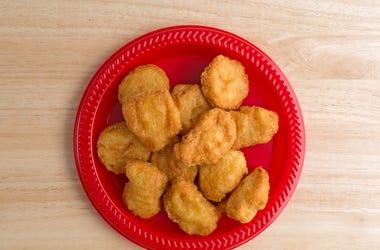 Chicken Nuggets, Plate, Chicken, Nuggets