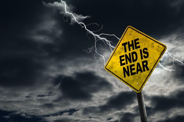 End is Near, Sign, Lightning, Storm