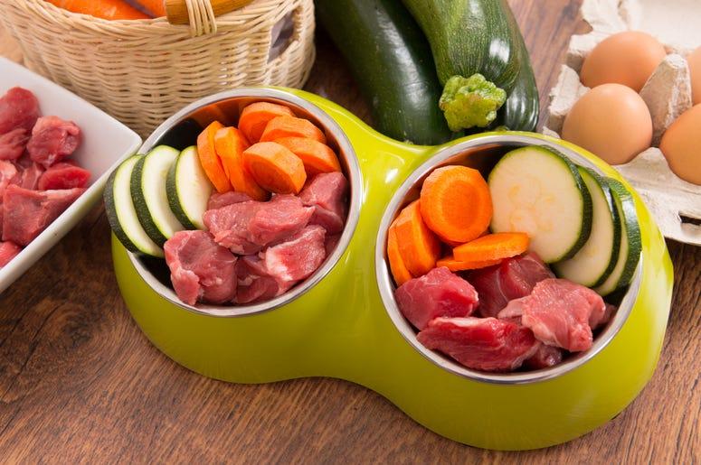 Natural ingredients used to make dog food