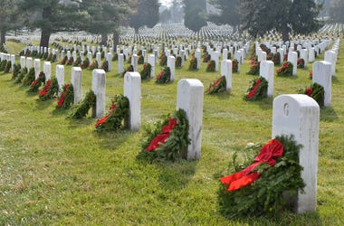 Arlington National Cemetery, Wreaths, Headstones, Christmas, Holidays