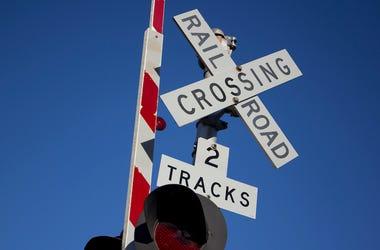 Rail Road Sign, Blue Sky
