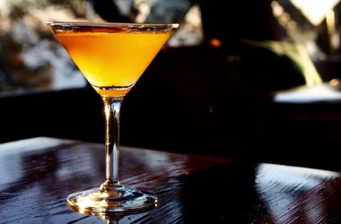 Orange, Cocktail, Martini, Drink