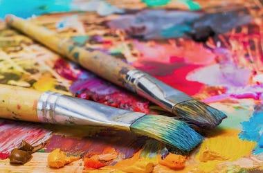 Paint, Brushes, Palette, Oil Paint