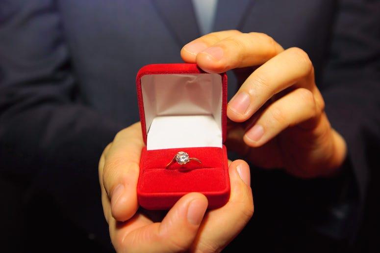 Man, Engagement Ring, Box, Ring, Proposal