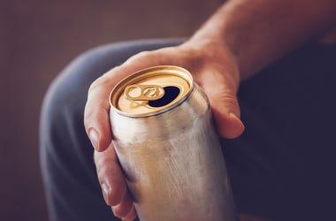 Man, Drinking, Can, Hand, Soda, Beer