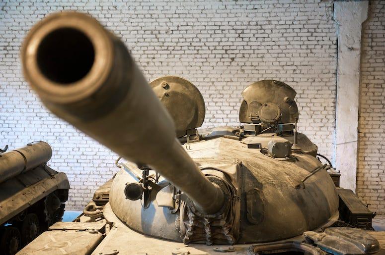Soviet, Combat Tank, T-55, Tank, Cold War, Russia, Hangar, Missile