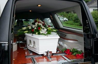 Casket, Coffin, Hearse, Trunk Open