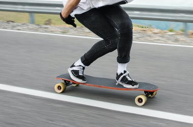 Longboard, Skateboard, Riding, Highway