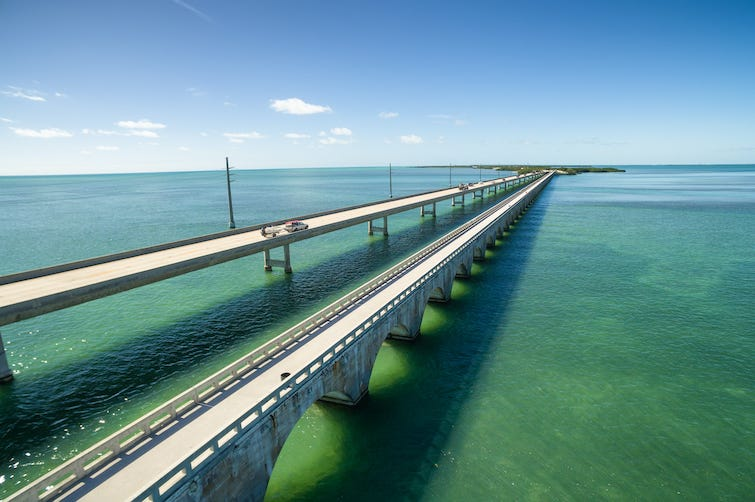 Key West, Seven Mile Bridge, Florida, Bridge, Water, Florida Keys, US1