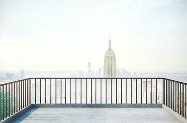 Apartment, Balcony, New York, Fog