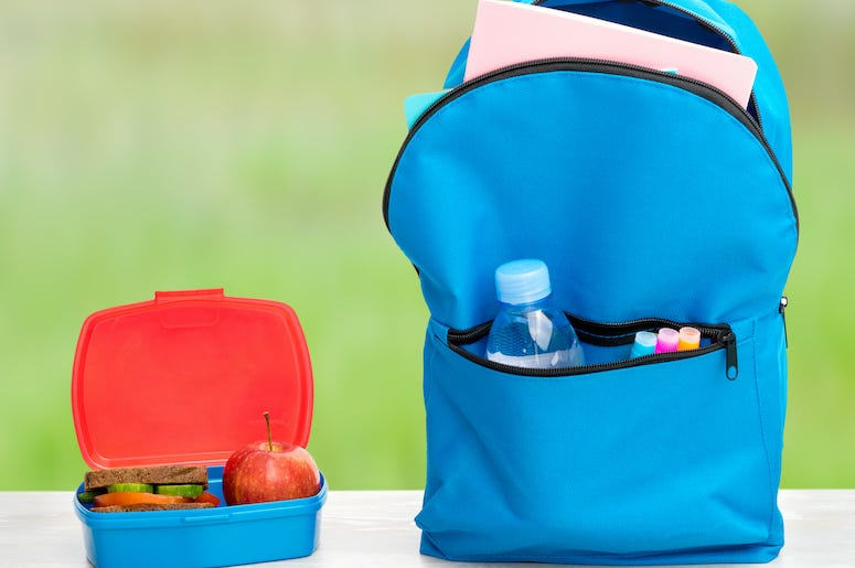 Backpack, Meal, School Lunch, Lunch