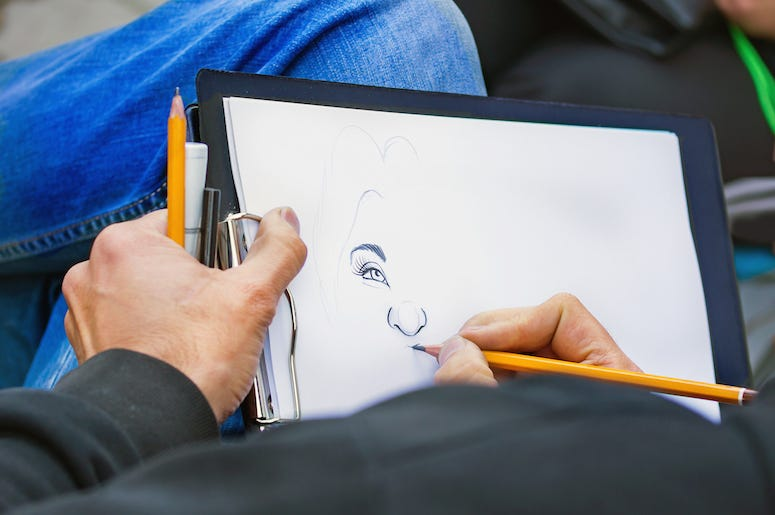 Caricature, Sketch, Artist, Drawing