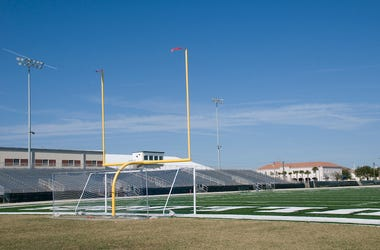 Football Field, Stadium, Empty, Stands, High School