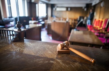 Courtroom, Empty, Gavel