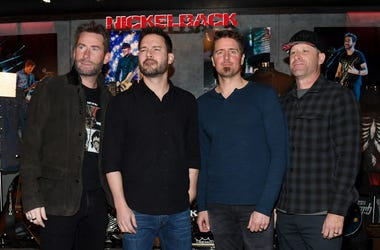 "Nickelback attend a memorabilia case dedication ahead of the band's five-night ""Feed the Machine"" residency at The Joint inside the Hard Rock Hotel & Casino on February 22, 2018 in Las Vegas, Nevada."
