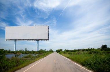Billboard, Highway, SIdeway, Road