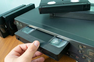 VHS Tape,VCR, Hand