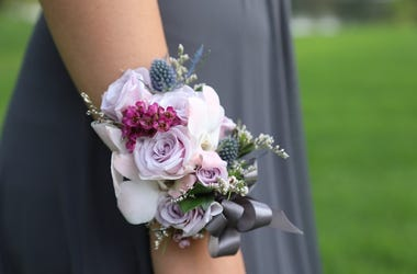 Prom Dress, Corsage, Flower Arrangement
