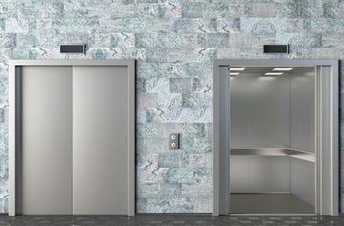 Elevator, Cabin, Cabin, Open, Closed, Door