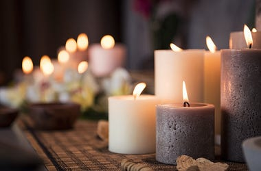 Candles, Lit, Spa Setting