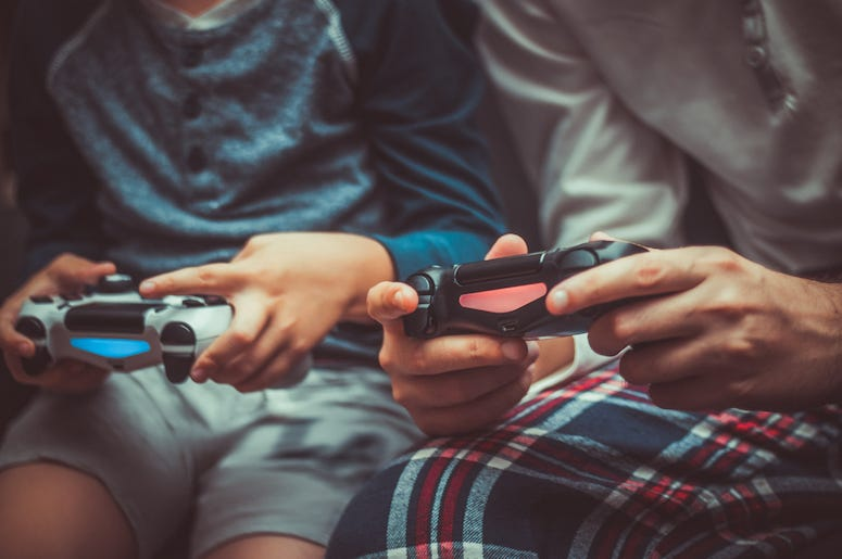 Video Game, Controllers, Friends, Playing