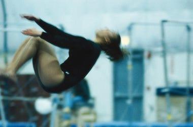 Backflip, Woman, Female, Gymnast