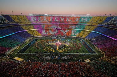 Coldplay, Beyonce and Bruno Mars perform during the Pepsi Super Bowl 50 Halftime Show