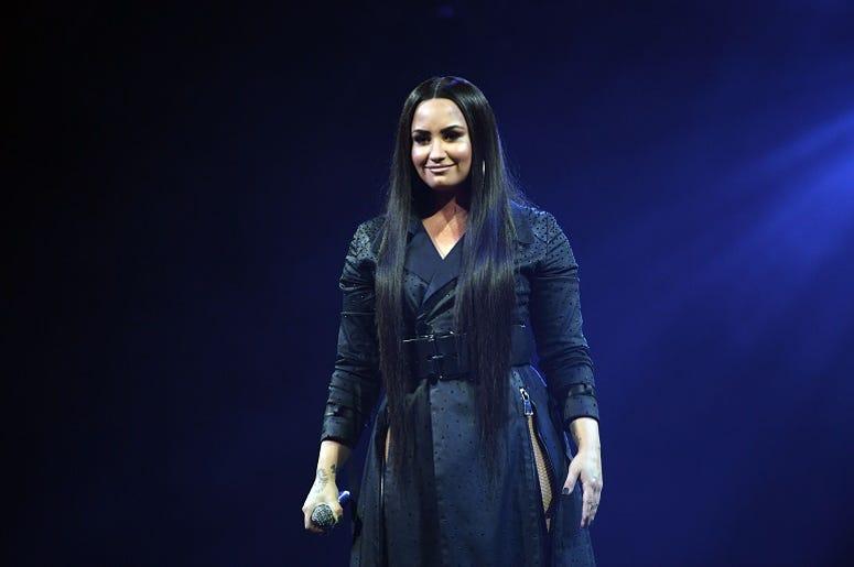 March 30, 2018; Miami, FL, USA; Demi Lovato performs at American Airlines Arena
